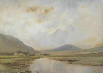 AT LEENANE, CO. GALWAY by Douglas Alexander sold for €400 at deVeres Auctions