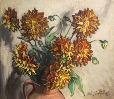 FLORAL STILL LIFE by Paul Nietsche sold for €1,800 at deVeres Auctions