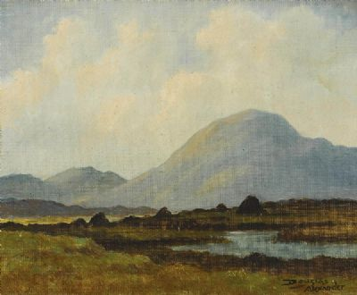 Turf Stacks by Douglas Alexander sold for €1,500 at deVeres Auctions