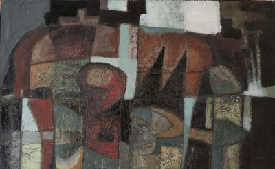 BROWN TO GREEN ABSTRACTION by Arthur Armstrong sold for €2,400 at deVeres Auctions
