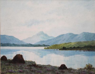 NEAR DHU LOUGH, CONNEMARA by Douglas Alexander sold for €650 at deVeres Auctions