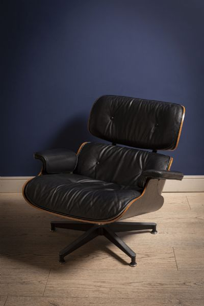 HERMAN MILLER CHAIR & STOOL by CHARLES AND RAY EAMES sold for €2,900 at deVeres Auctions