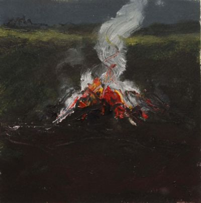 BONFIRE STUDY II by Michael Gemmell  at deVeres Auctions