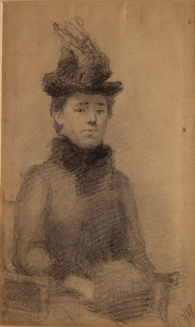 STUDY OF A LADY by Sarah Purser  at deVeres Auctions
