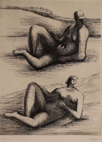 FIGURES RECLINING by Henry Moore  at deVeres Auctions