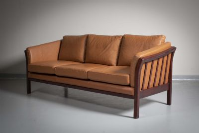 A Danish Leather Sofa by Danish  at deVeres Auctions