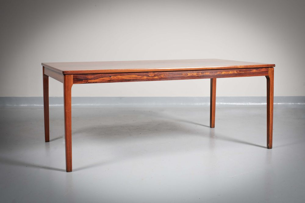 Lot 18 - A ROSEWOOD LOW TABLE by Danish