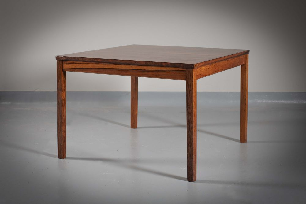 A ROSEWOOD LOW TABLE