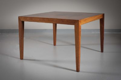 A ROSEWOOD LOW TABLE at deVeres Auctions