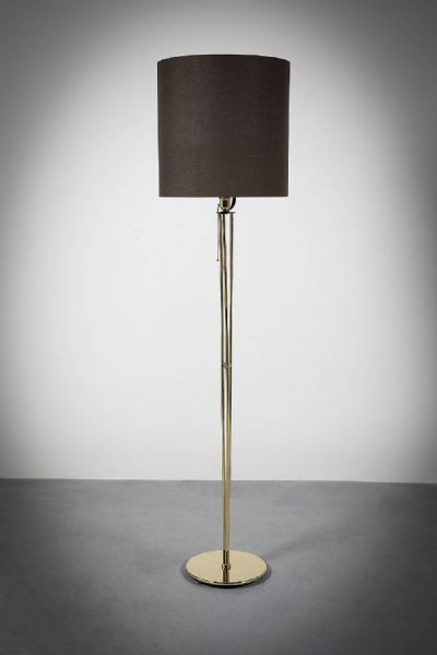 A BRASS STANDARD LAMP at deVeres Auctions