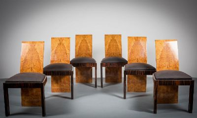 A SET OF SIX ART DECO DINING CHAIRS at deVeres Auctions