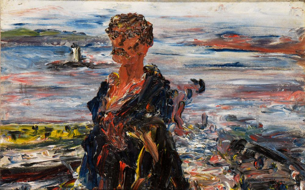 Lot 12 - KERRY FISHERMAN - FENIT LIGHTHOUSE (1927) by Jack B. Yeats RHA