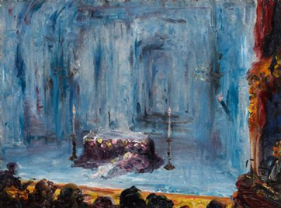 THE GAIETY THEATRE, DUBLIN (ROMEO & JULIET - THE LAST ACT) (1927) by Jack B. Yeats RHA at deVeres Auctions
