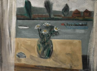 VIEW OF THE THAMES FROM MY STUDIO WINDOW by Norah McGuinness HRHA, RHA, at deVeres Auctions