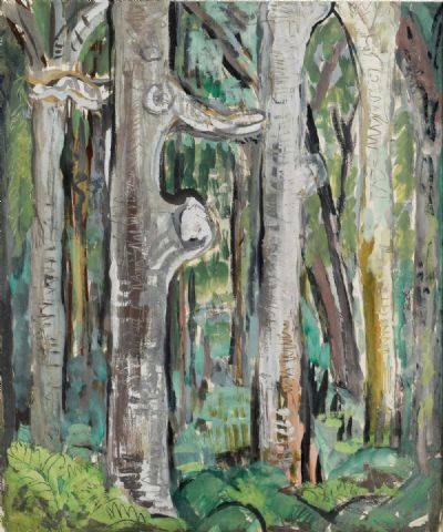 IN THE WOODS AT MARLAY by Evie Hone RHA at deVeres Auctions