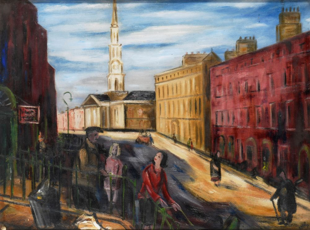 Lot 8 - ST GEORGES CHURCH, DUBLIN by Norah McGuinness HRHA, RHA,
