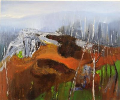 WINTER TREES AFTER LIGHTENING, GLENDALOUGH by Richard Kingston  at deVeres Auctions