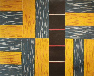 YELLOW ASCENDING by Sean Scully  at deVeres Auctions